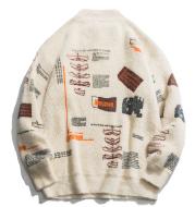 Geometric comfort Plush sweater