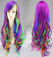 Colorful rainbow gradient hairstyle