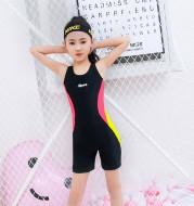 Girls' swimsuit sports flat corner one piece
