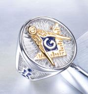 Freemasonry Totem Alloy Men's Ring