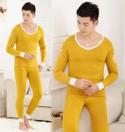 Men's tights Modal basic round neck thermal underwear set