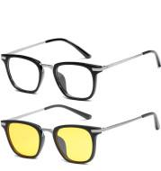 Men's and women's ultralight flat glasses