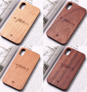 Solid wooden phone case