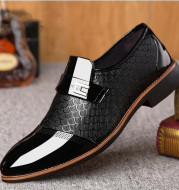New embossed men's leather shoes