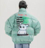 Graffiti bear printed cotton clothing men's bakery