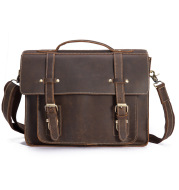 The first layer of crazy horseskin men's handbag