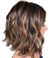 Wig female short curly hair