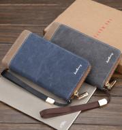 Vintage canvas clutch bag zipper clutch bag