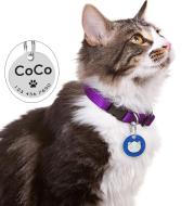 Round keychain pet cat card