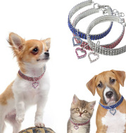 Heart shaped pet necklace