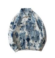 Tie-dye national tide denim jacket