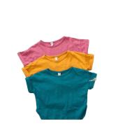 T-shirt slub cotton casual top