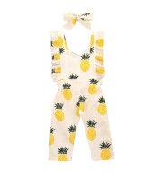 Cotton pineapple printed jumpsuit