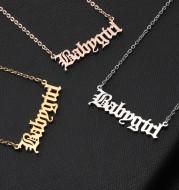 Custom steel titanium numbers, letters, necklaces, bracelets