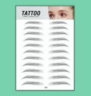 Eyebrow pattern embroidery eyebrow paste