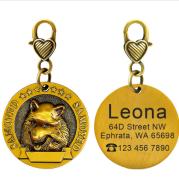 New dog identity card custom lettering tag Jin Mao Teddy dog bronze dog anti-lost pet brand