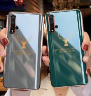 Electroplating soft glue elk mobile phone case