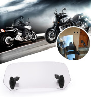 Motorcycle front heightening windshield clip