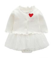 Halter skirt and long-sleeved cardigan