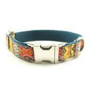 Ethnic style metal buckle dog collar