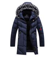 Mid-length plus cashmere padded jacket