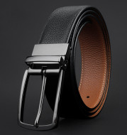 Men's revolving pin clip buckle belt