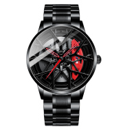 Three-dimensional brake hollow dial mechanical watch
