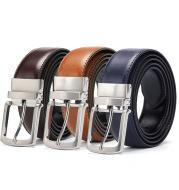 Men's rotating pin buckle belt