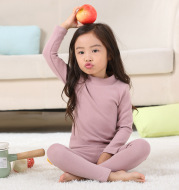 Girls' pajamas with warm middle collar home wear