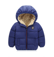 Children's hooded and down padded jacket