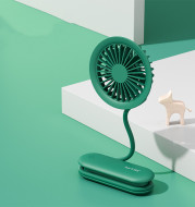 Hand-held hanging neck portable electric fan