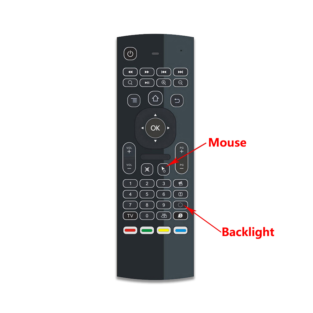 MX3 MX3-L Backlit Air Mouse T3 Smart Voice Remote Control 2.4G RF Wireless Keyboard