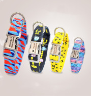 Fashion Colorful Personalized Pet Dog Tag Collar Custom Engraved Nameplate ID Anti-Lost