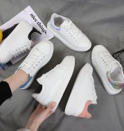 Casual sports thick bottom couple white shoes