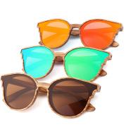 Handmade Polarized Wood Grain Sunglasses Angle's Wing