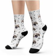 Pet head print socks
