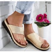 Women Slippers Flat Sole Casual Soft Big Toe Foot Sandal