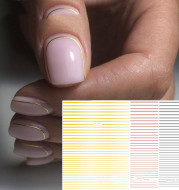 Nail art fluorescent line adhesive stickers