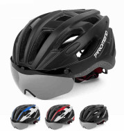 Magnetic riding helmet glasses with goggles