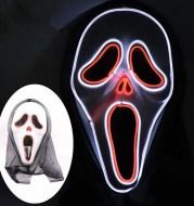 LED glowing scream mask