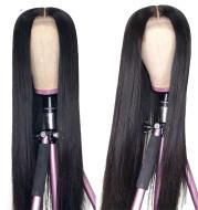 Split scalp Long Straight Wig