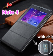 Smart cover for clamshell windows for Samsung note4
