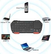 Mini Wireless Bluetooth Keyboard Built-in Mouse Function