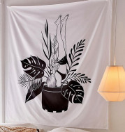 Hand drawn abstract tapestry