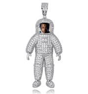 Spaceman Astronaut Memory Photo Pendant