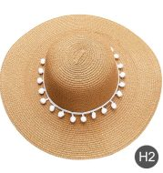 Fashion Personalized Custom Embroidery Beach Hat Your Name Text Logo Women Sun Hat Palm Straw Hat
