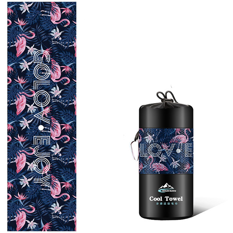 Quick Dry Sports Gym Towel Flamingo - Hiphatter