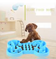 Pet Dog Slow Food Feeder Anti Choke Travel Bowl