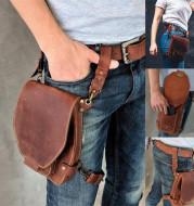 Vintage leather bag purse belt bag