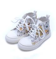 Non-slip graffiti canvas shoes